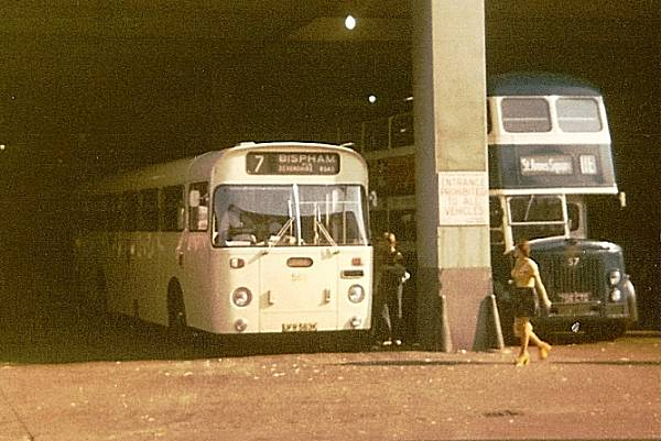 1971 Blackpool switched to AEC Swifts in the late 1960s. 563, UFR563K. is a 1971 example with Marshall body