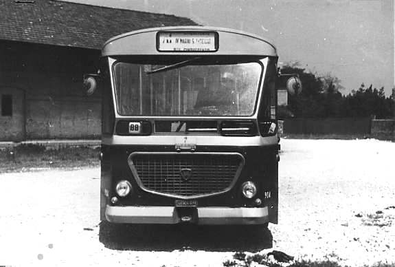 1971 Lancia 718.241 Menarini  stefer bus 924