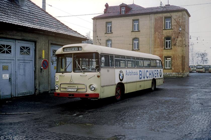 1971 Magirus Deutz bus in Würzburg