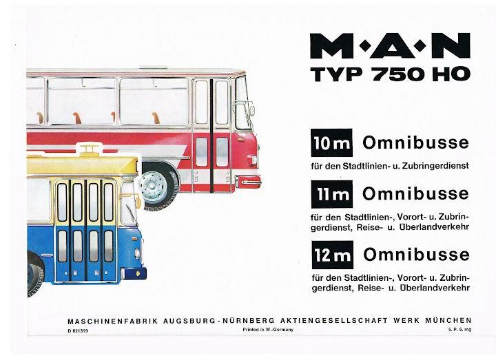 1971 MAN TYP 750 HO boekje