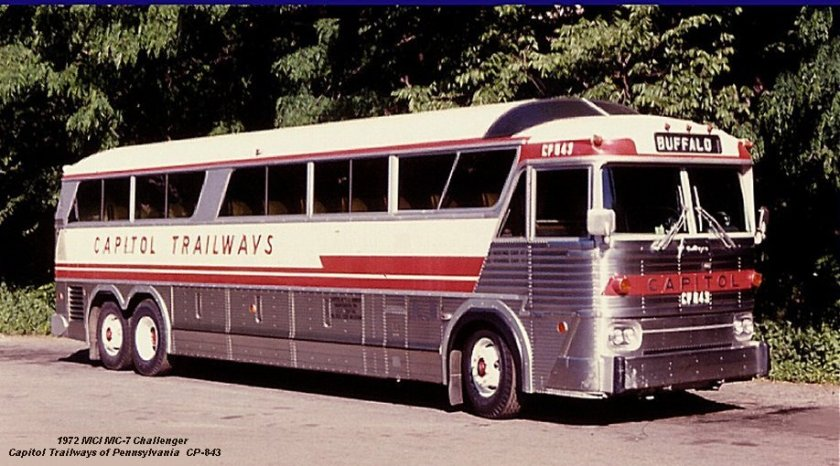 1972 MCI MC-7 Challenger Capitol Trailways of Pennsylvania CP-843