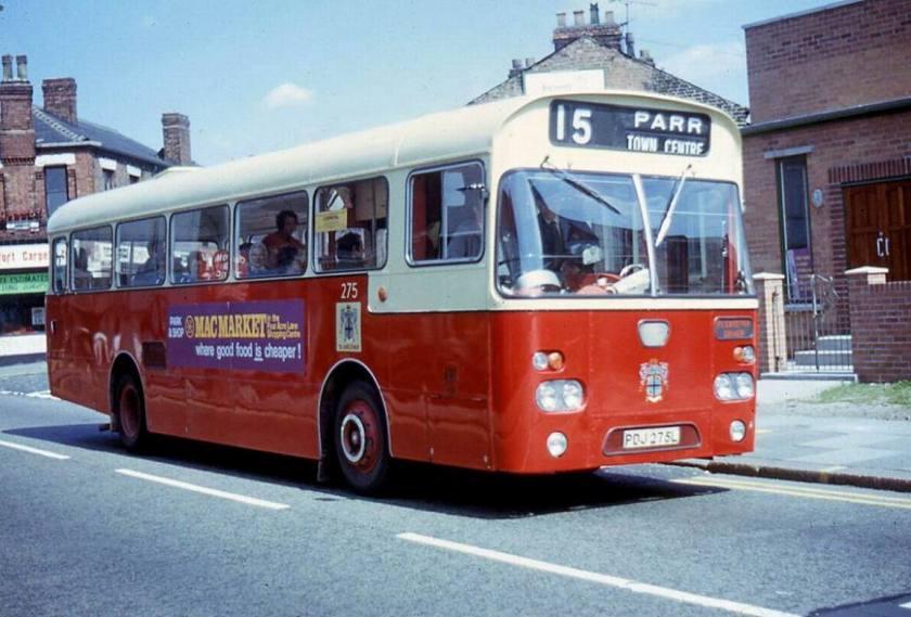 1973 AEC Swift 275, PDJ275L Marshall body