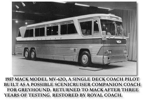 1975 Mack Model MV-620 Single deck Coach