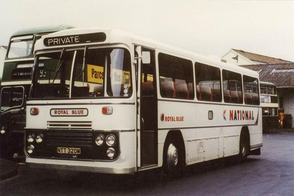 1975 Western National Royal Blue Marshall Bristol LH6L NTT 320M March 1975