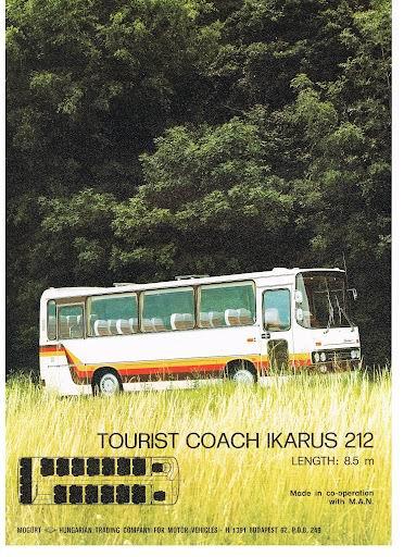 1976 IKARUS 212-8 5m op MAN