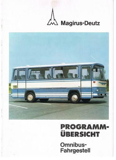 1977 MAGIRUS DEUTZ Program übersicht