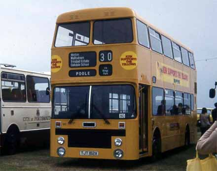1977 Marshall doubledeck bodied Leyland Olympian for Yellow Buses Bournemouth