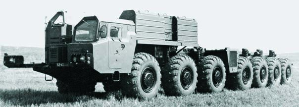 1979 MAZ-7912 chassis, 14x14