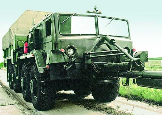 1980 MAZ-KZKT-537А ballast tractor-pusher , 8x8