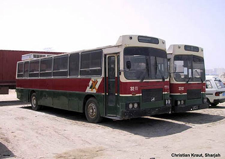 1982 WBX-MAN a Sharjah-UAE arev Büssing MAN -Avtomontaza Bus