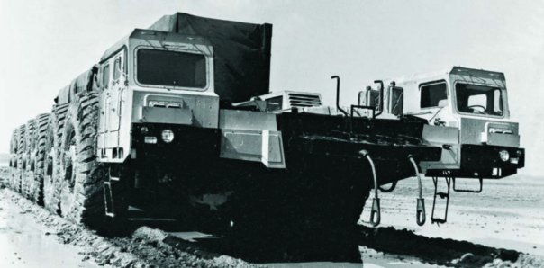 1984 MAZ-7904 chassis, 12x12