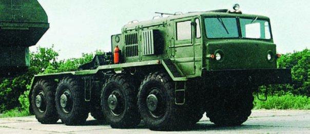 1985 MAZ-KZKT-537 semi-trailer truck, 8x8