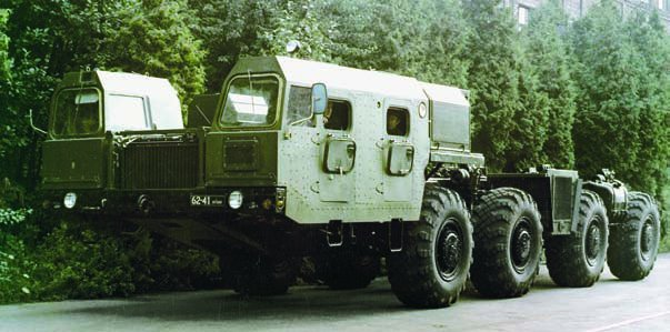 1986 MAZ-7908 chassis, 8x8