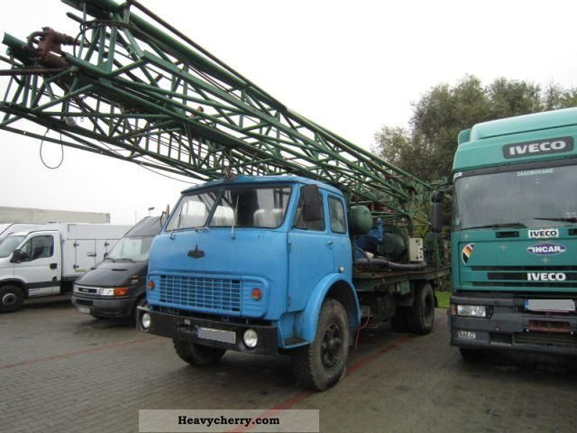 1988 maz 55 132 mobile drilling rigs vertical