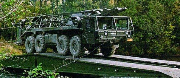 1993 MAN 36.422VFAE (SX90) chassis, 8x8, Leguan Bridgelayer
