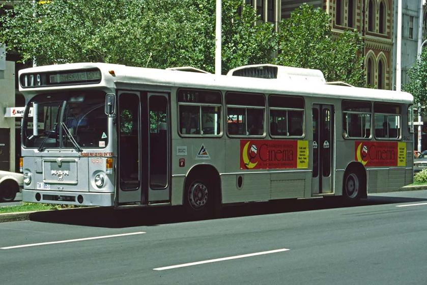 1997 MAN Standardbus mit australischem Aufbau in Adelaide
