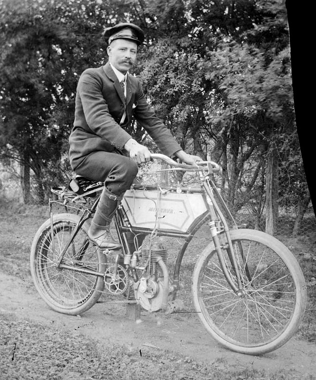 2 a Minerva motorized bicycle in Australia