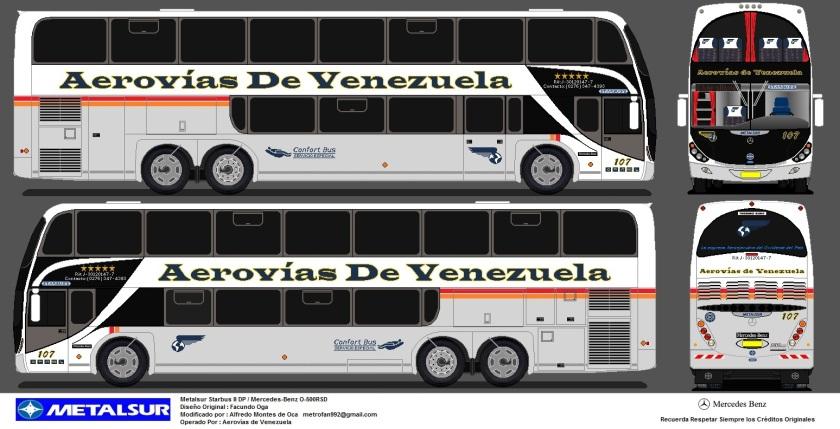 2001 Aerovias de Venezuela (107) Metalsur Starbus II DP MB O-500RSD