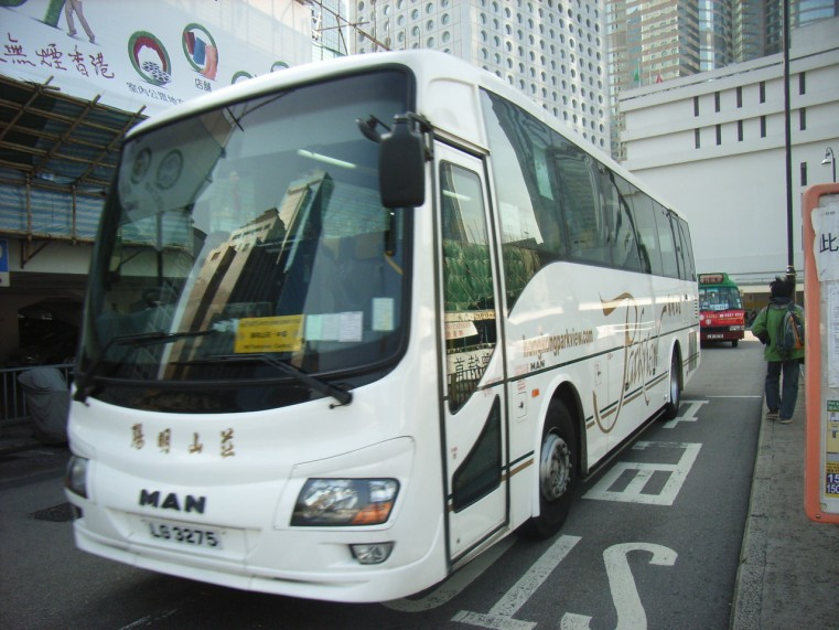 2005 Bussen Youngman-MAN bus in Hong Kong