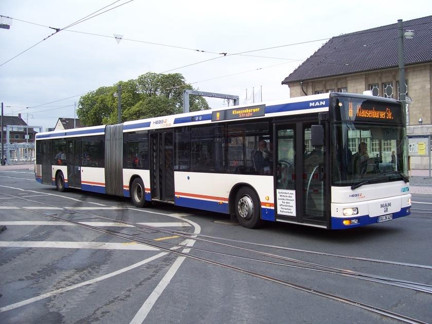 2008 MAN NG 313 na ulicach Darmstadt w Niemczech