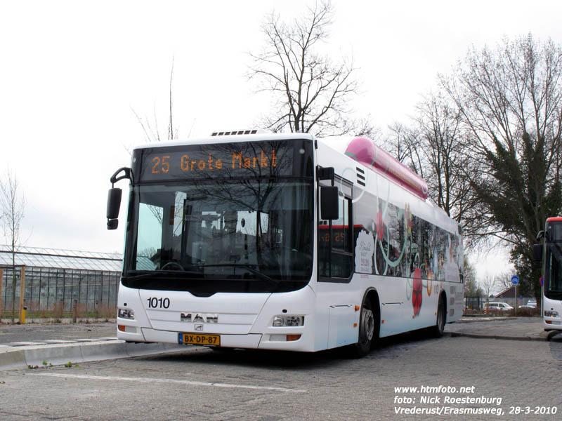 2009 MAN aardgasbus 1010 met bestickering Klimaatfonds Den Haag
