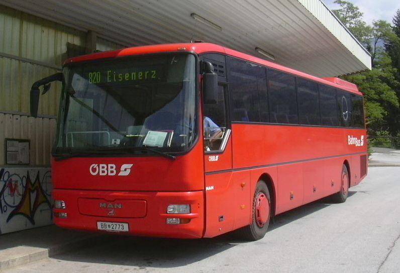 2009 MAN ÜL 363, Bahnbus (Österreich) (Bahnbus existiert nicht mehr, Bahnbus jetzt Postbus)