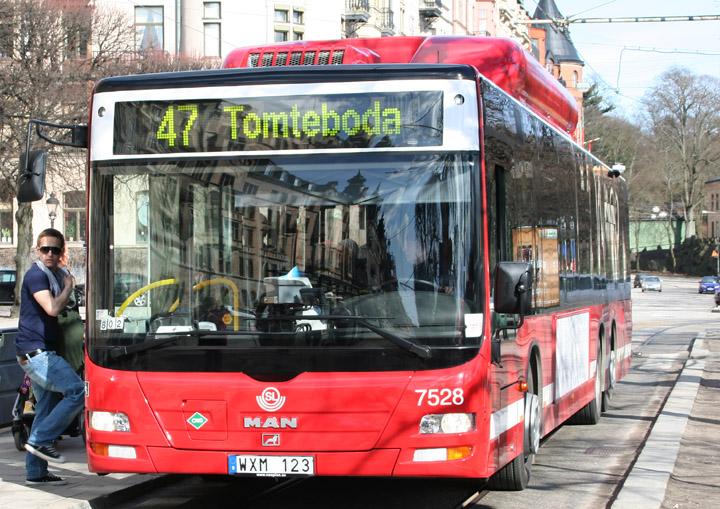 2010 MAN biogas bogie bus SL no. 7528