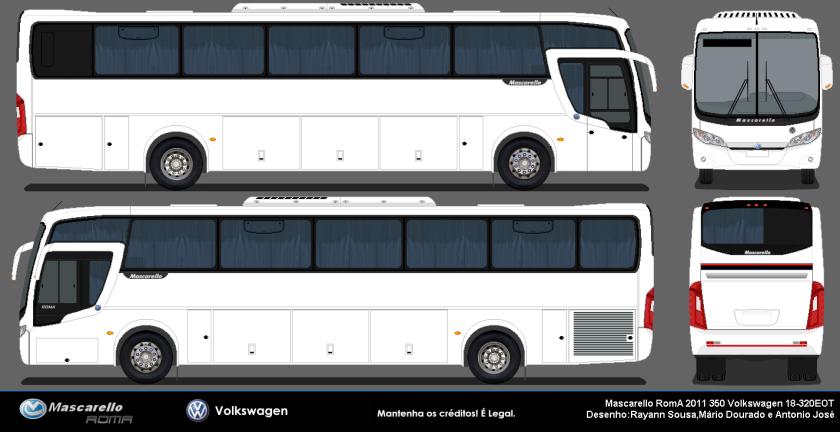 2011 Mascarello Roma 350 2011 Volksbus 18-320EOT