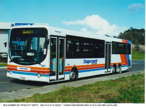 2012 MAN 16.230 Stagecoach Auckland Buses