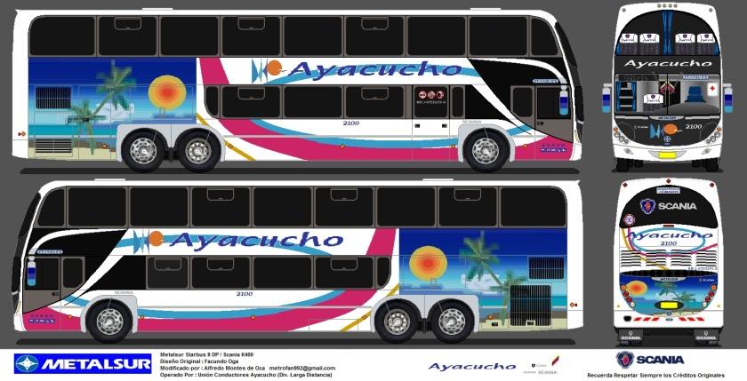 2013 U.C.Ayacucho (2100) Metalsur Starbus II DP Scania K400