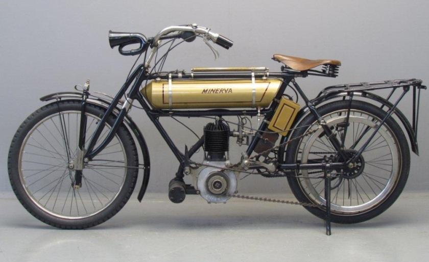 2c 1908 Minerva 432 cc (8 pk) zijklepper