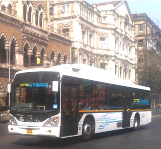 7 Tata Marcopolo CNG Hybrid bus in Mumbai