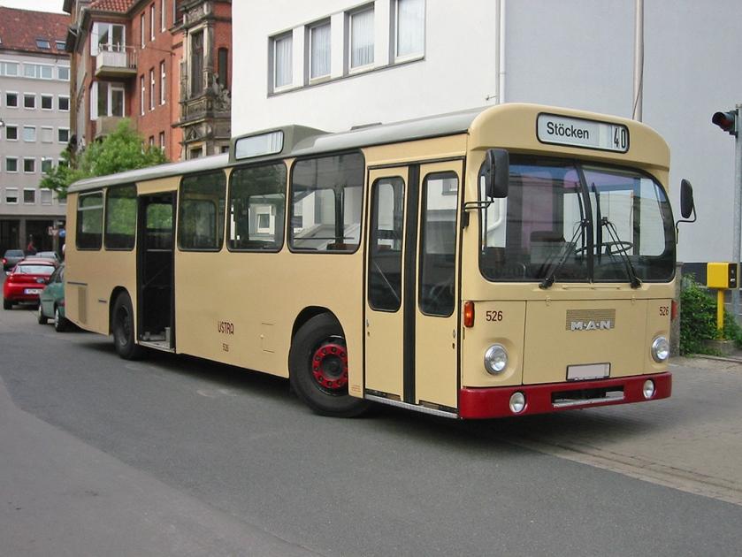 84 Standardbus MAN SL 200 in Hannover als Museumsbus
