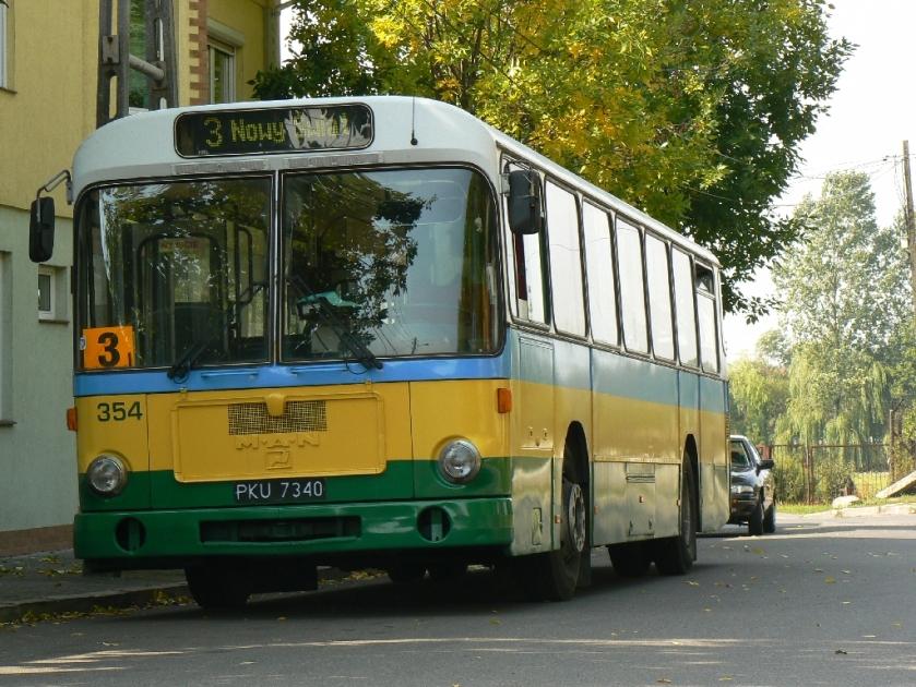 86 MAN-Linienbus in Bełchatów (Polen)