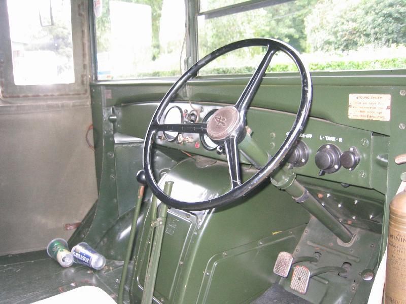 9 Austin K2Y Ambulance inside
