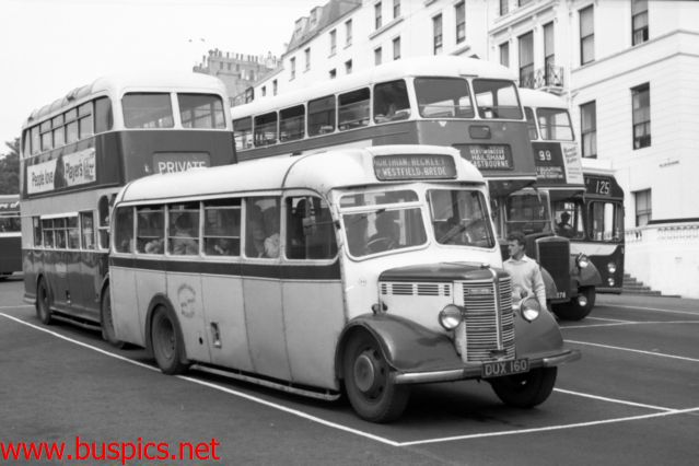 Bedford OB with Mulliner 29 seat bus body numbered 29
