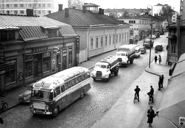 Bedford Sales Caravan in Jyväskylä, Finland 1950′s