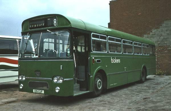 Bickers 105CUF, Leyland Leopard - Marshall. Ex Southdown