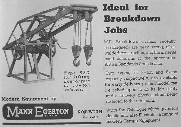 Breakdown cranes from Mann Egerton and Co. Ltd