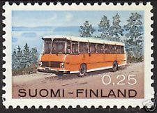 Bus Auto Volvo Post Office Van Finland MNH 1971