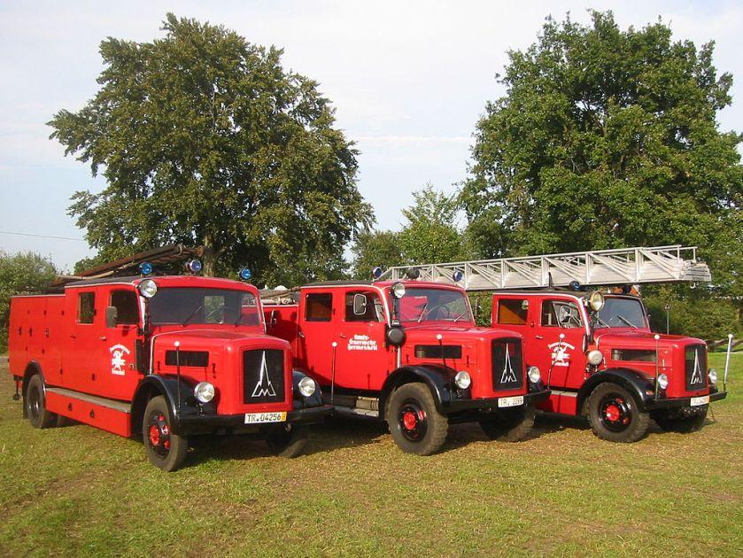 Feuerwehr Gruppe Magirus Deutz-Löschzug Hermeskeil