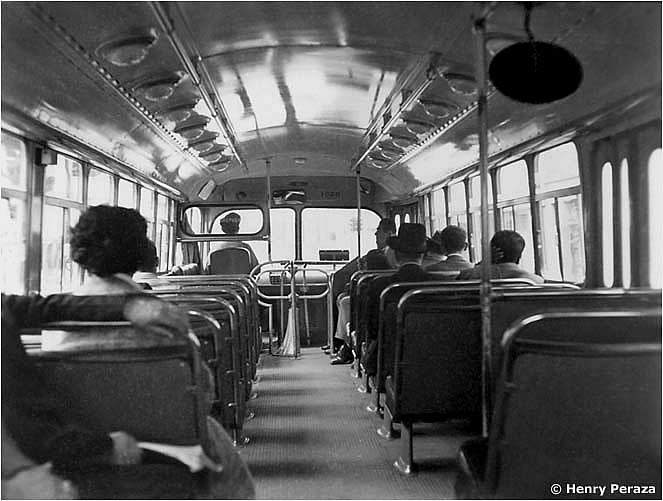 Inside a Marmon-Herrington trolleybuses from Kansas City