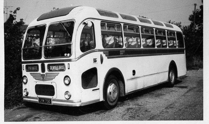 LYM730 of Denyer Bros, Chivers Road, Stondon Massey. c. 1976 AEC Regal IV ECW