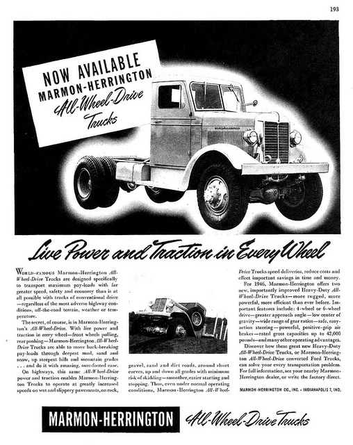 Marmon Harrington all wheel drive trucks