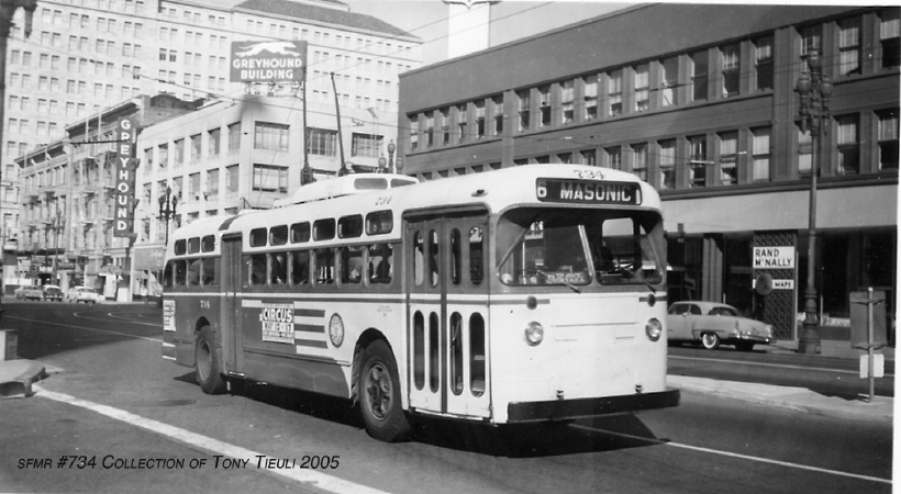 Marmon-Herrington 734 on Market Street