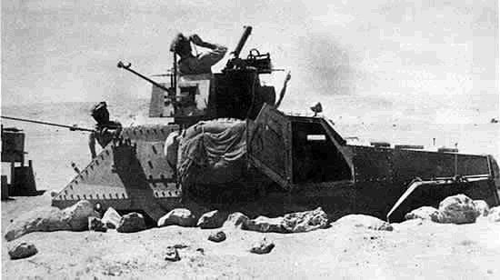 Marmon-Herrington Mk II, with the British King's Dragoon Guards at Tobruk in 1941