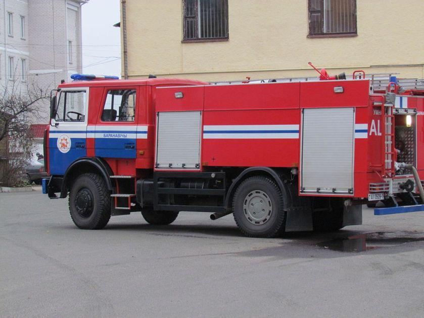 MAZ-5337 Firetruck in Baranavichy, Belarus