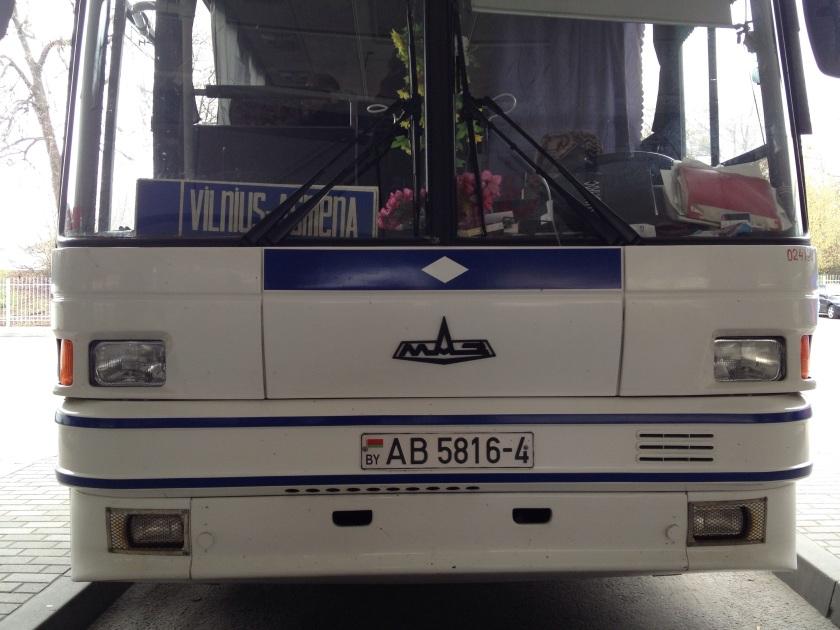 MAZ bus in Belarus