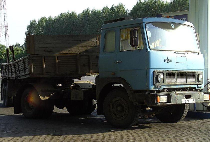 MAZ truck in russia
