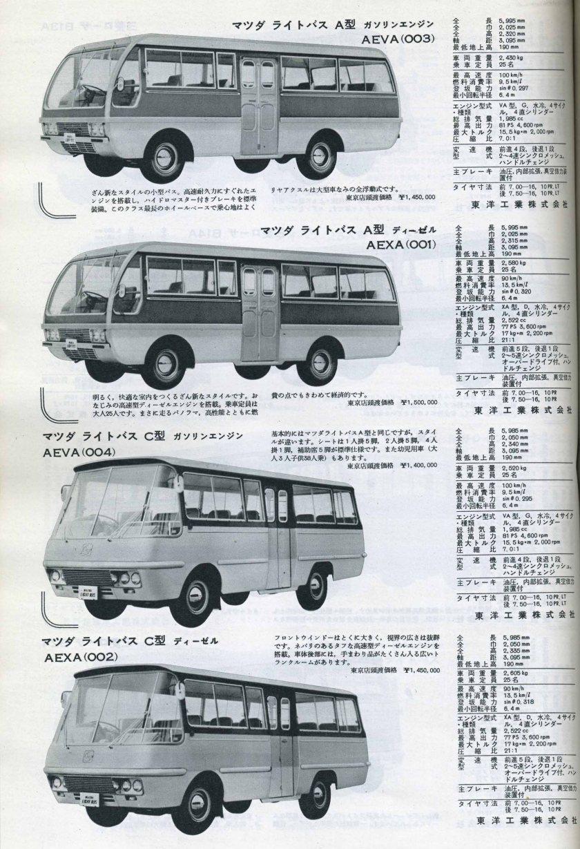 Mazda Lite bus AEVA 003+004+ AEXA 001